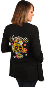 Mamacita Sugar Skull Long Sleeve Maternity/Nursing Wrap