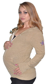 One Lucky Mother Eco-Friendly Maternity Hoodie