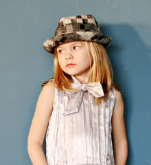 Patchwork Black and White Baby/Toddler Fedora Hat