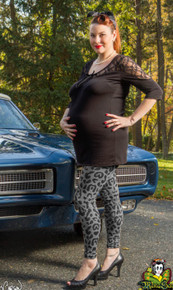 Leopard Print Plus Size Maternity Leggings