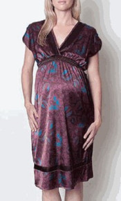 Mia Bitter Chocolate Maternity Dress