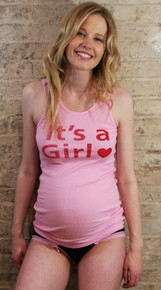 It's A Girl Rhinestone Maternity Tank Top