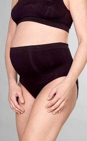 Waistline Seamless Maternity Brief - Black or Nude