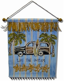 Surfin Safari Handmade Nursery Art Banner