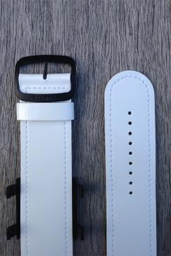 White PU Wrist Bracelet