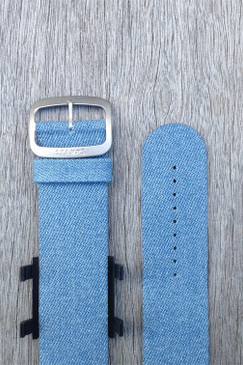Blue Denim Wrist Bracelet