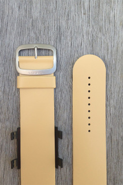 Beige Leather Wrist Bracelet