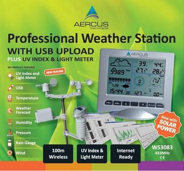 Station Météo Sans Fil WS3083 avec Transfert PC par USB et Indice UV + GUIDE DES DÉBUTANTS DE 30 PAGES INCLUS (LIVREL)! -