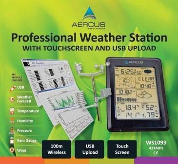 Station Météo sans Fil WS1093 avec Écran Tactile et Transfert PC par USB + GUIDE DES DÉBUTANTS DE 30 PAGES INCLUS (LIVREL)!