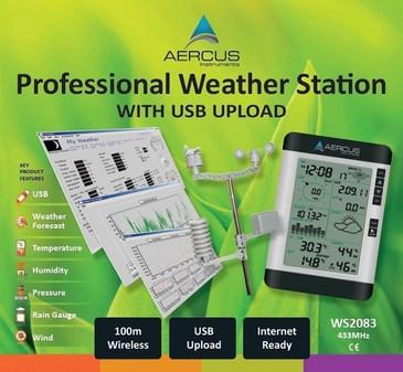 Station Météo sans Fil Professionnelle WS2083 avec Transfert PC par USB + GUIDE DES DÉBUTANTS DE 30 PAGES INCLUS (LIVREL)!