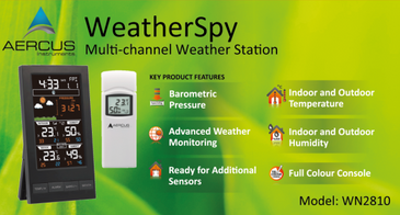 Aercus Instruments™  WeatherSpy - Desktop Multichannel Weather Station