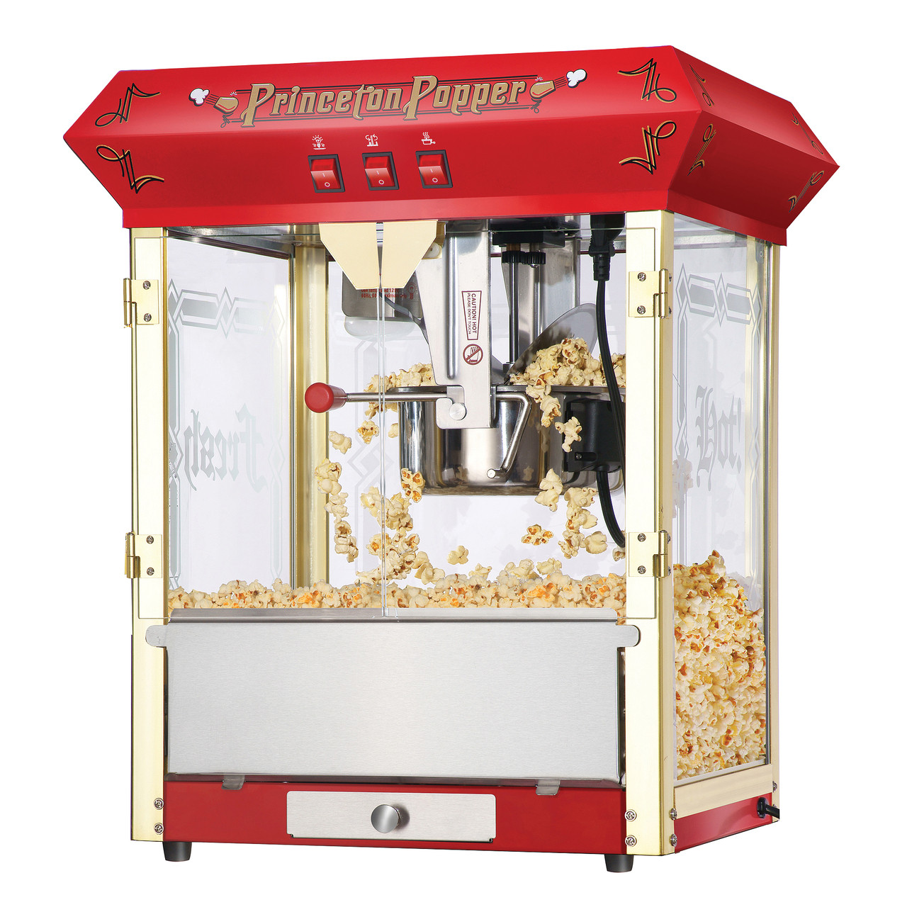 Great Northern Princeton Red Antique Style Popcorn Popper Machine 8 Oz Great Northern Popcorn