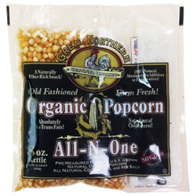 Certified Organic 8 Oz Old Fashioned Great Northern Popcorn Portion Packs 18ct
