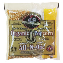 Certified Organic 8 Oz Movie Theater Great Northern Popcorn Portion Packs 18ct