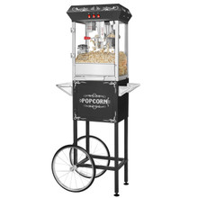 Great Northern Popcorn Black GNP-800 All-Star Popcorn Popper & Cart, 8oz
