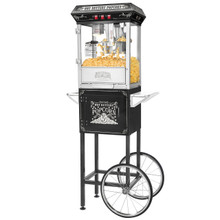 Great Northern Black Good Time 8oz  Popcorn Popper Machine w/ Cart, 8 Ounce