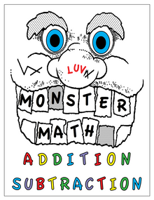 """In MOVE IT Math™, virtually every elementary school student masters Monster Addition in Grade 1 and Monster Subtraction in Grade 2. The justifiable pride they realize in such accomplishments defies any feelings of inadequacy they or their teachers and parents may feel about their ability in math. They believe they can do anything, even learn how to read. There you have it — the reason for imposing such astounding expectations on young children: self-esteem and self-confidence based on achievement, not hype!  Monster Addition and Monster Subtraction aren't about discarding calculators and """"getting back to the basics"""" — those of paper-and-pencil math. It is about accomplishing something human that can't be achieved with a calculator: empowerment. When a young child can flawlessly add and subtract even 10-digit numbers with paper and pencil, they know they know. When they punch numbers into a calculator, all they know is that the calculator knows.  The prerequisites for Monster Addition are the addition facts and the Addition Facts Algorithm. Those for Monster Subtraction are the subtraction facts and the standard subtraction algorithm coupled with an understanding of how a place value numeration system works. In MOVE IT Math™, these topics are covered in the Number Facts key and the Fair Lands™ key.  The culminating activities for this booklet are to become certified in Monster Addition and Monster Subtraction (and thereby becoming members of the Monster Math Club of America!). The materials for that purpose are contained in another free MOVE IT Math™ e-book: Monster Math Certification & Awards Program.   Becoming certified in Monster Addition and Monster Subtraction achieves two purposes: For students, it documents mastery. For teachers, it validates closure for the topics of addition and subtraction of whole numbers. Except for periodic review, there is no need to teach these topics again year after year. By deleting what would be unnecessary redundancy, the standar"""