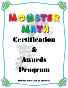 JOIN THE MONSTER MATH CLUB OF AMERICA! Work any one of the four arithmetic problems in the booklet to become a member. Ask your teacher or parent for your award certificate for the problem you worked.