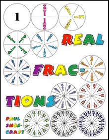 FREE e-book: Real Fractions, games and activities with fraction circles, 24 pages, K-9