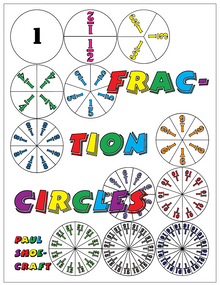 FREE e-book: Fraction Circles, 42 pages, K-9