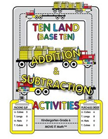 Ten Land (base 10) Addition & Subtraction Activities, 80 pages, K-6