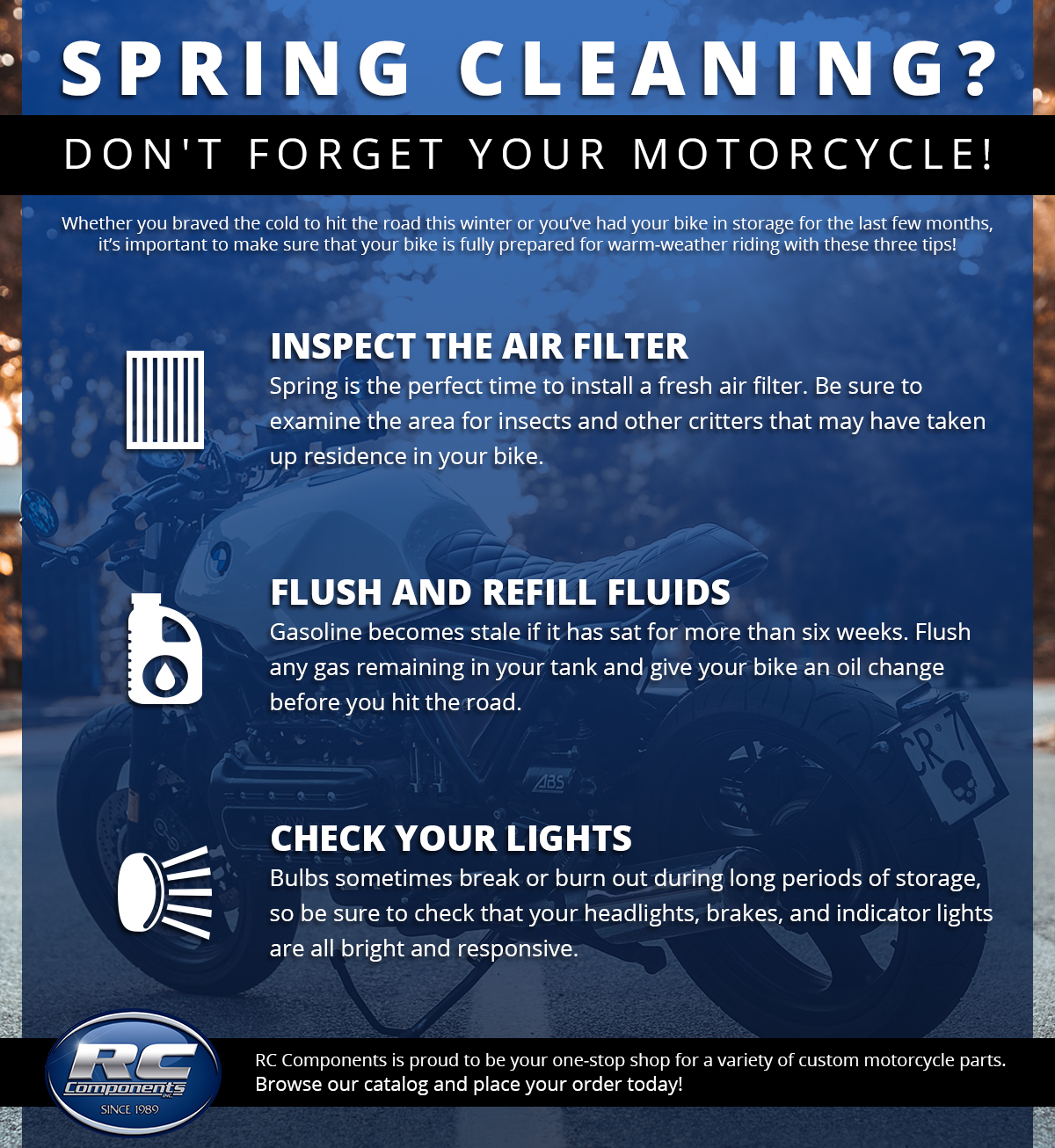 Spring Cleaning? Don't Forget Your Motorcycle! - RC Components