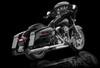 "RCX Exhaust 4.5"" Slip-on Mufflers, Chrome with Gatlin Eclipse Tips."
