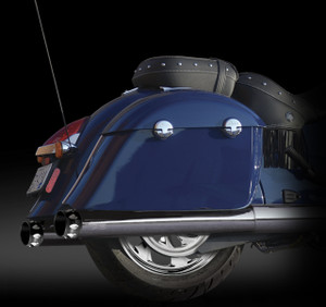 """RCX Exhaust 4.0"""" Slip-on Mufflers, Chrome with Edge Eclipse Tips."""