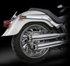 """RCX Exhaust  3.0"""" slip-on mufflers with Excalibur Eclipse tips."""