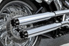 """RCX Exhaust  3.0"""" slip-on mufflers with Rival Eclipse tips."""