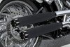 """RCX Exhaust  3.0"""" ceramic black slip-on mufflers with Rival Eclipse tips."""