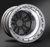 Fusion Black Beadlock Rear Wheel • Fusion Black Center • Polished Outer • Polished Beadlock