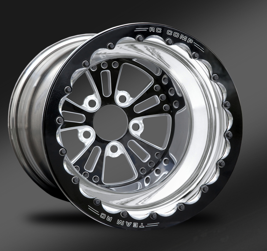 Fusion Eclipse Beadlock Rear Wheel • Fusion Eclipse Center • Polished Outer • Eclipse Beadlock