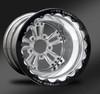 Fusion Eclipse Beadlock Rear Wheel • Fusion Polished Center • Polished Outer • Eclipse Beadlock