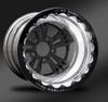 Fusion Eclipse Beadlock Rear Wheel • Fusion Black Center • Polished Outer • Eclipse Beadlock