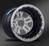 Fusion Polished Beadlock Rear Wheel • Fusion Polished Center • Black Outer • Polished Beadlock