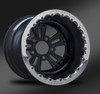Fusion Black Beadlock Rear Wheel • Fusion Black Center • Black Outer • Polished Beadlock