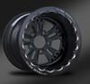 Fusion Eclipse Beadlock Rear Wheel • Fusion Black Center • Black Outer • Eclipse Beadlock
