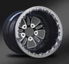 Fusion Eclipse Beadlock Rear Wheel • Fusion Eclipse Center • Black Outer • Polished Beadlock