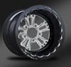 Fusion Polished Beadlock Rear Wheel • Fusion Polished Center • Black Outer • Eclipse Beadlock