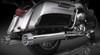 "RCX Exhaust 4.5"" Slip-on Mufflers for 2017 Harley Touring, Chrome with Gatlin Chrome Tips."