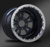 Torx Black Beadlock Wheel • Torx Black center • Black outer  • Polished Beadlock
