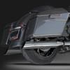 "RCX Exhaust 4.0"" Slip-on Slash Up Mufflers, Chrome."
