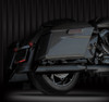 "RCX Exhaust 4.0"" Slip-on Slash Up Mufflers, Ceramic black."