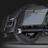 "RCX Exhaust 4.0"" Slip-on Mufflers, Ceramic black with Excalibur chrome tips."
