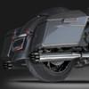 "RCX Exhaust 4.0"" Slip-on Mufflers, Chrome with Gatlin Eclipse Tips."