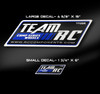"""Team RC Decals are available in 6"""" and 15"""" lengths."""