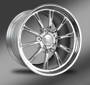 Hammer-S (No rim accents) Polished finish, Street Fighter Wheels