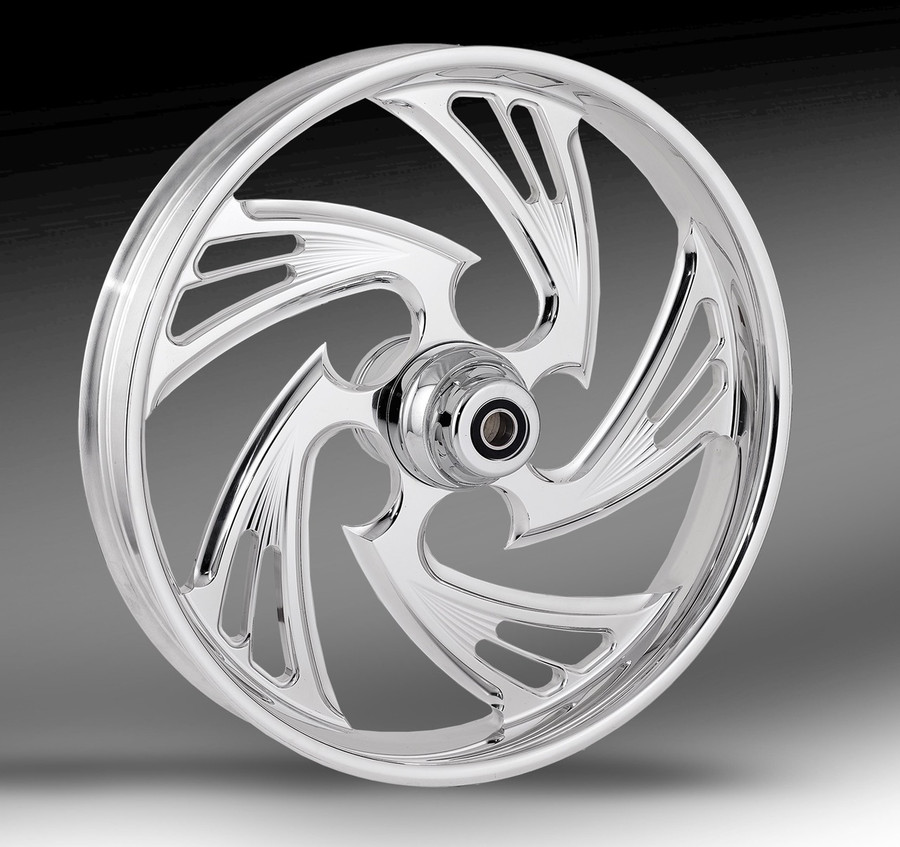 RC Components Crisis Wheel shown in chrome finish.