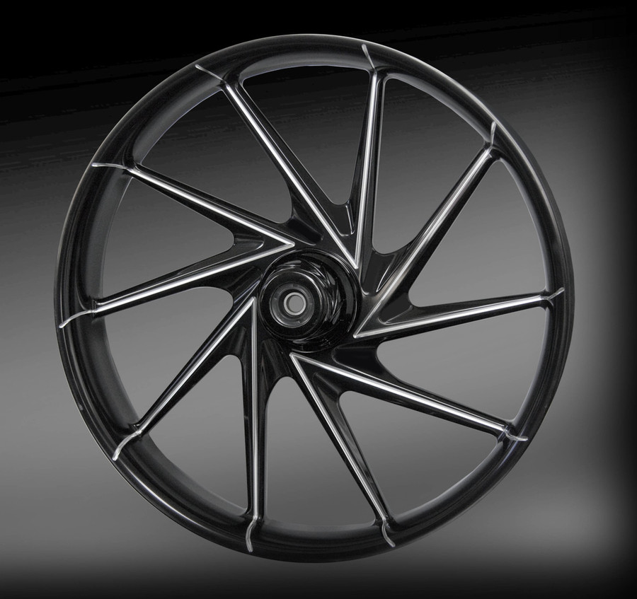 Manic wheel in Eclipse Finish (Black and Machined)